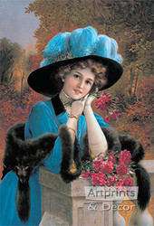 Lady with Carnations by Emile Vernon - Art Print