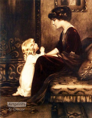 Bedtime Prayer by Bessie Pease Gutmann - Art Print