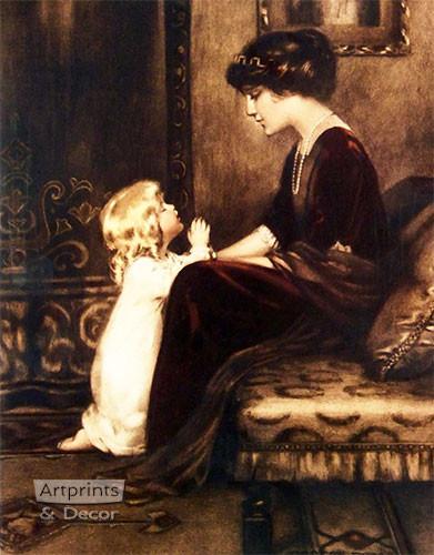 Bedtime Prayer by Bessie Pease Gutmann - Art Print