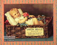 Union Mills Flour Ad - Art Print