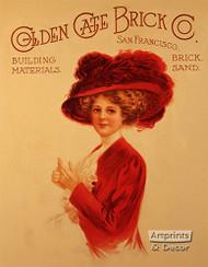 Golden Gate Brick Co - Art Print