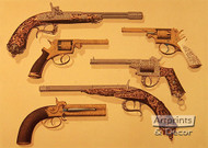 Belgin and English Pistols - Art Print