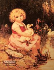 Ducklings by Frederick Morgan - Art Print