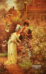 In the Garden by Hans Zatzka - Art Print