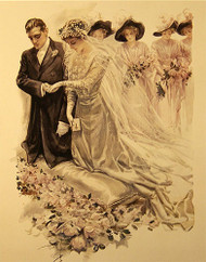 The Wedding by Harrison Fisher - Art Print