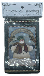 Snowflakes Are Angel Kisses Ornamental Greeting Combination Gift Tag Ornament