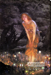 Midsummer Eve by Edward R. Hughes - Stretched Canvas Art Print