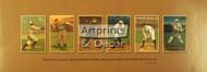 Six Baseball Cards - Framed Art Print