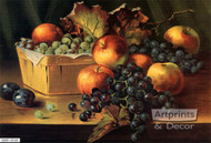 Fruit & Grape Basket - Art Print^