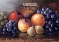 Fruit in Pastels - Framed Art Print