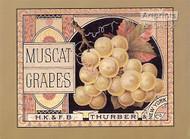 Grape Label - Framed Art Print