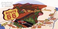 Route 66 (Plaque) - Framed Art Print