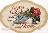 A rose in each shoe - Framed Art Print