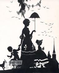 Sunday Morning (silhouette) - Art Print^