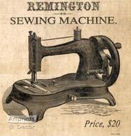 Remington sewing Machine - Art Print^