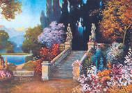 Stairway in a garden - Framed Art Print