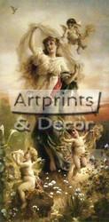 Garden Cherubs - Framed Art Print
