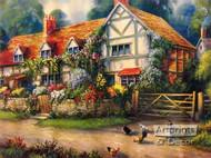 Country Cottage - Framed Art Print