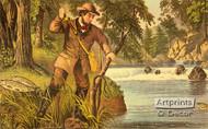 Brook trout fishing - Framed Art Print