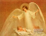 A Protecting Angel - Framed Art Print