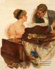 Harmony at the Piano - Framed Art Print