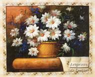 Daisy in Still Life - Framed Art Print