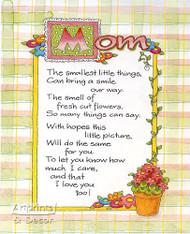 Mom - Framed Art Print