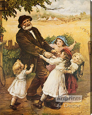 Off to the Fair by Frederick Morgan - Stretched Canvas Art Print