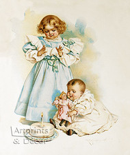 The First Birthday by Maud Humphrey - Art Print