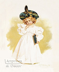 The First Lesson by Maud Humphrey - Art Print