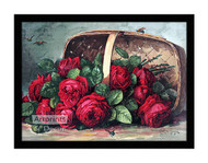 Basket of Beauties - Framed Art Print