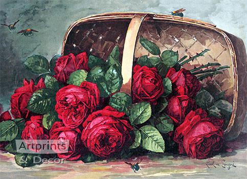 Basket of Beauties by Paul de Longpre - Art Print