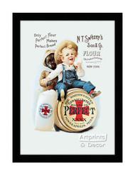 Perfect Flour - Vintage Ad - Framed Art Print