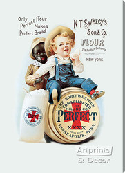 Perfect Flour from Gallery Graphics - Stretched Canvas Vintage Ad Art Print