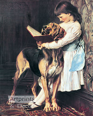 The Reading Lesson by C. Burton Barber - Art Print