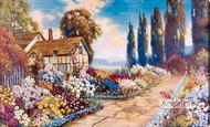 Old Fashion Garden by R. Atkinson Fox  - Stretched Canvas Art Print