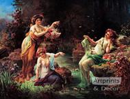 Fairy Play by Hans Zatzka - Art Print