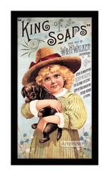 King of Soaps - Vintage Ad - Framed Art Print