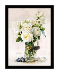 White Roses - Framed Art Print