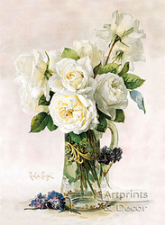 White Roses by Paul de Longpre - Art Print