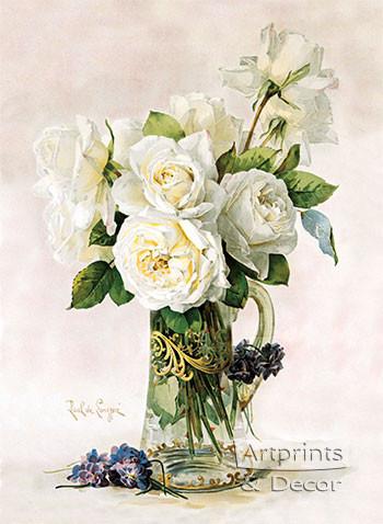 White Roses by Paul de Longpre - Art Print