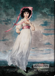 Pinkie by Thomas Lawrence - Stretched Canvas Art Print