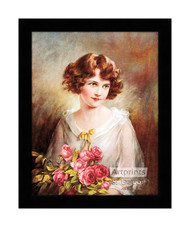 In the Month of Roses - Framed Art Print