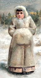 Winter Miss - Art Print