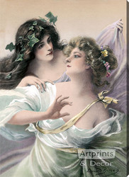 Spring Maidens by Edouard Bisson - Stretched Canvas Art Print