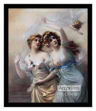 Love's Messengers - Framed Art Print