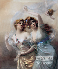 Love's Messengers by Edouard Bisson - Art Print