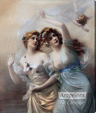 Love's Messengers by Edouard Bisson - Stretched Canvas Art Print