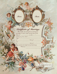 Certificate of Marriage - Art Print