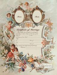 Certificate of Marriage - Art Print